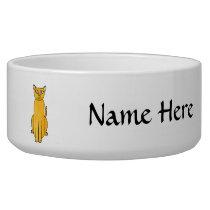 Ginger Red Shorthair Cat. Bowl