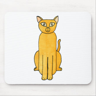 Ginger Red Shorthair Cat. Mouse Pad