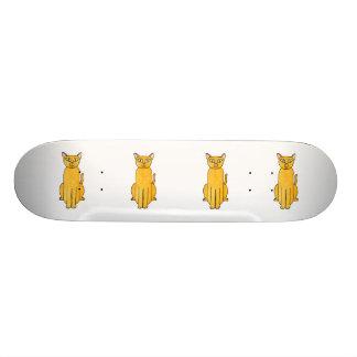 Ginger Red Shorthair Cat. Skateboard