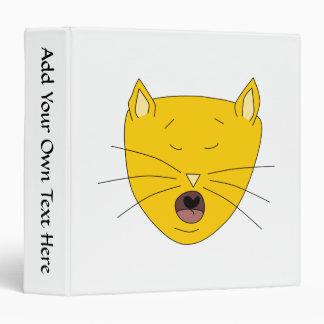 Ginger singing cat. 3 ring binder