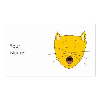 Ginger singing cat. business card