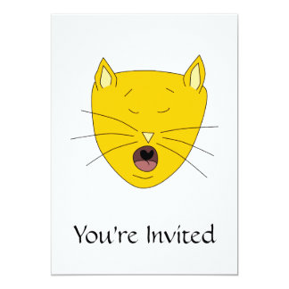 Ginger singing cat. card
