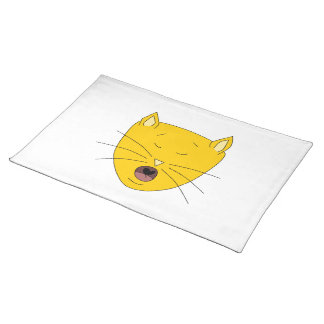Ginger singing cat. place mat