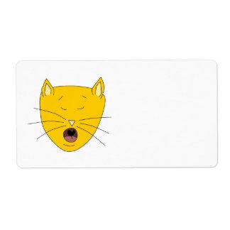 Ginger singing cat. shipping label