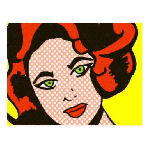 Ginger Snap Comic Book Postcard