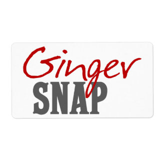 Ginger Snap Redhead Humor Shipping Label