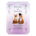 Sweet Ginger Tabby Cat Wedding Invitation