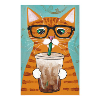Ginger Tabby Coffee Cat Stationery