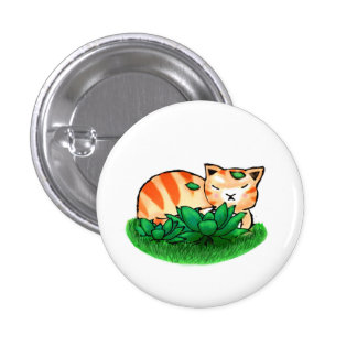 Ginger the Cat Button