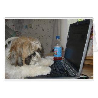 Ginger the Dog Card