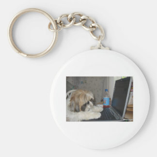 Ginger the Dog Keychain
