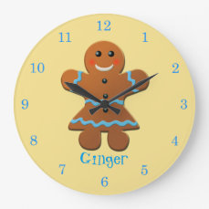 Ginger - The Gingerbread Girl Large Clock