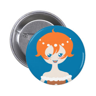 Ginger the Gingerbread Princess - Blue Button