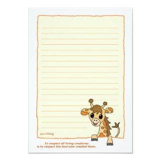 Ginger the Giraffe (Pathway Pet) Card