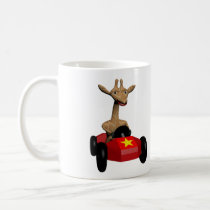 Ginger the Giraffe racing Coffee Mug
