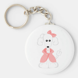Ginger the Poodle Key Chain