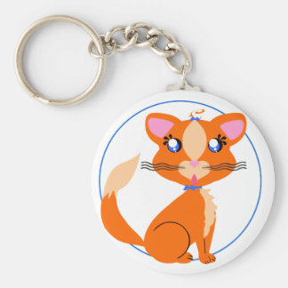 Ginger Toon Kitty Keychain
