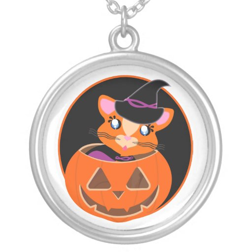 Ginger Toon Kitty Witch Necklace