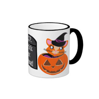 Ginger Toon Kitty Witch with Grave Mug