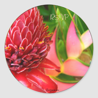 Ginger Tropical Wedding Envelope Seals/ Stickers Stickers