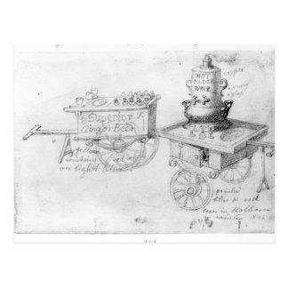 Gingerbeer y el vino caliente de la anciano atasca tarjetas postales