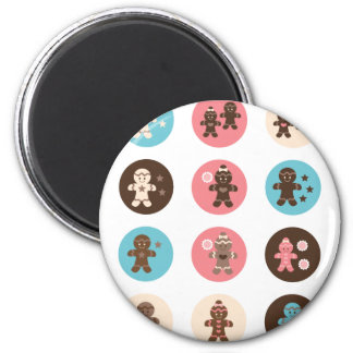 Gingerbread1 2 Inch Round Magnet