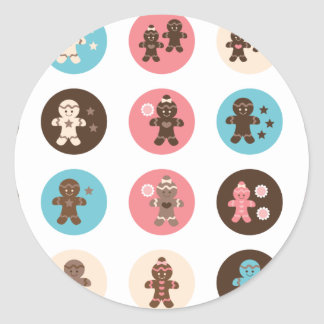 Gingerbread1 Classic Round Sticker