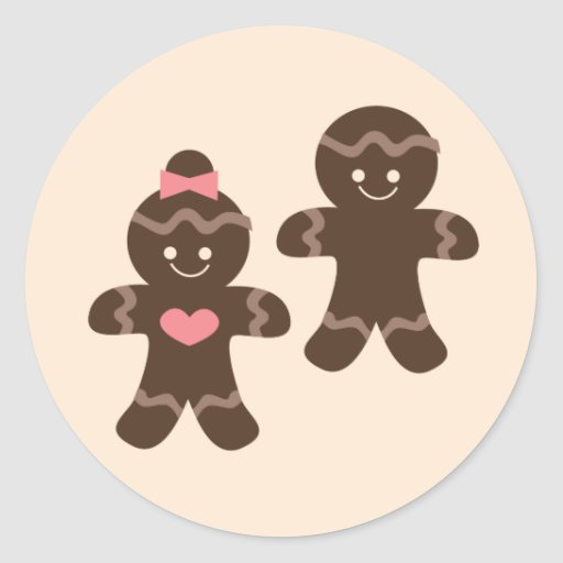 Gingerbread4 Pegatina Redonda