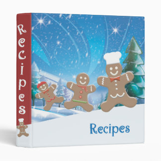"Gingerbread 1"" Recipe Binder"
