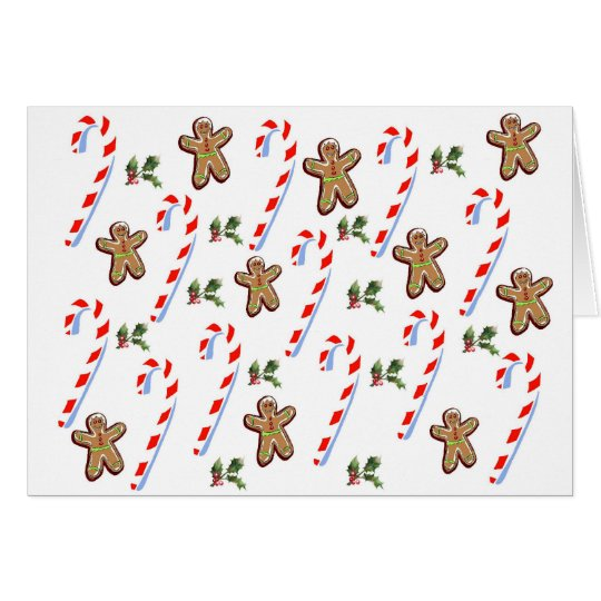 Gingerbread and Candy Canes Card