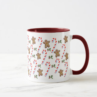 Gingerbread and Candy Canes Mug