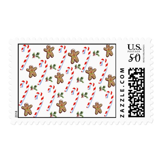Gingerbread and Candy Canes Postage