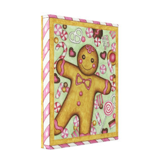 Gingerbread and Candy Canvas Art Print