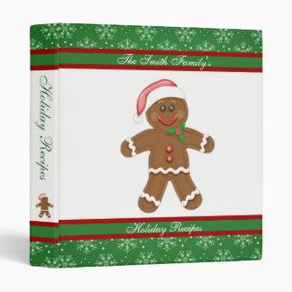 Gingerbread and Snowflakes Holiday Recipes Binder