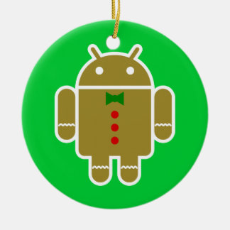 Gingerbread Android Christmas Ornaments