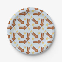 gingerbread arrows fun holiday design paper plate
