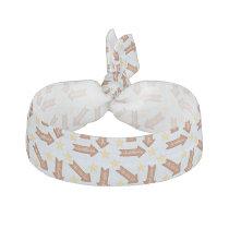 gingerbread arrows fun holiday design ribbon hair tie