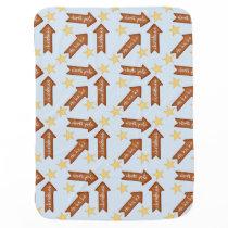 gingerbread arrows fun holiday design stroller blanket