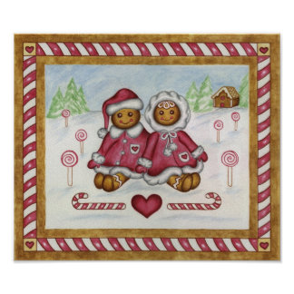 Gingerbread Art Print Poster