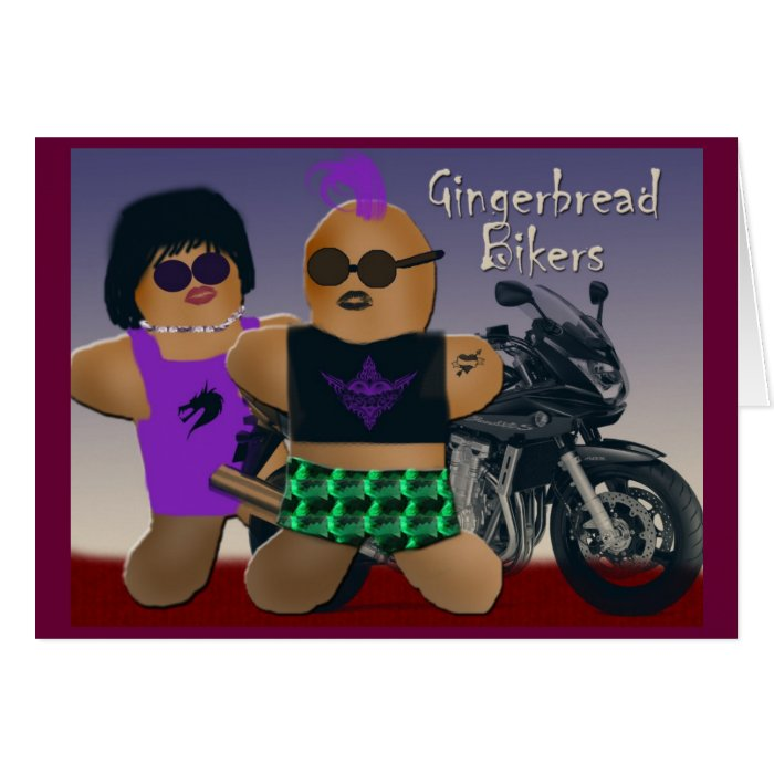 Gingerbread bikers card
