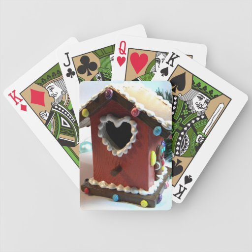 Gingerbread Birdhouse Bicycle Playing Cards