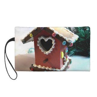 Gingerbread Birdhouse I Wristlet