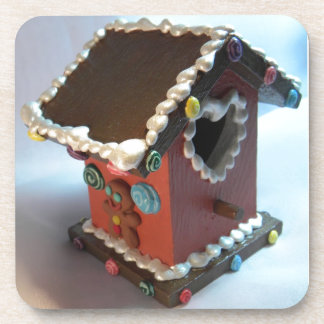 Gingerbread Birdhouse III Drink Coaster