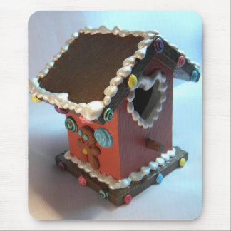Gingerbread Birdhouse III Mouse Pad