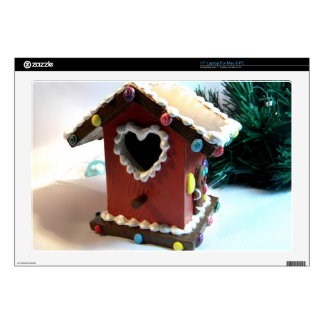 "Gingerbread Birdhouse Skins For 17"" Laptops"