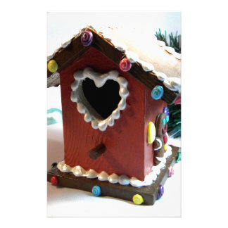 Gingerbread Birdhouse Personalized Stationery