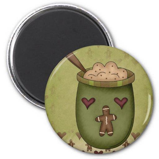 Gingerbread Bowl Magnet