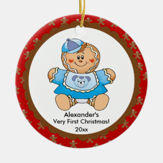 Gingerbread Boy Baby's First Christmas Ornament