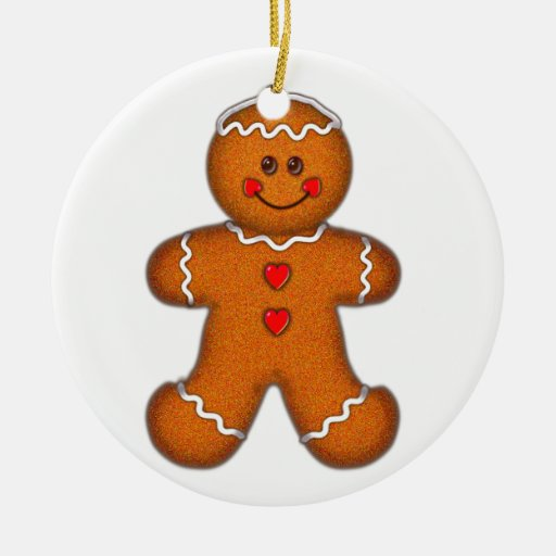 GINGERBREAD BOY by SHARON SHARPE Christmas Tree Ornament