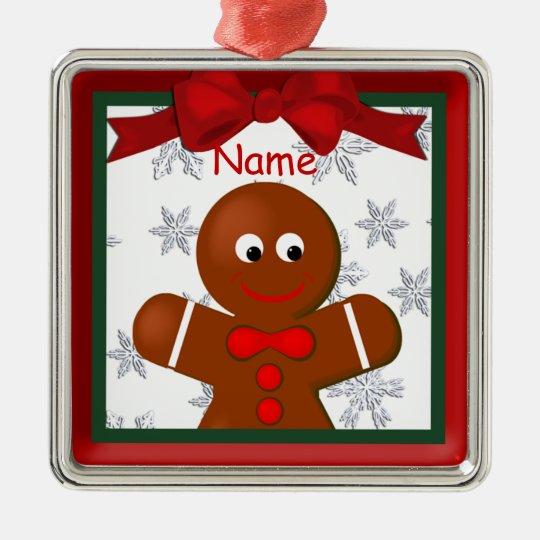 Gingerbread Boy Christmas Premium Ornament